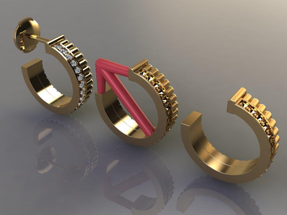 Diamond Infinity Hoop Fashion Earring