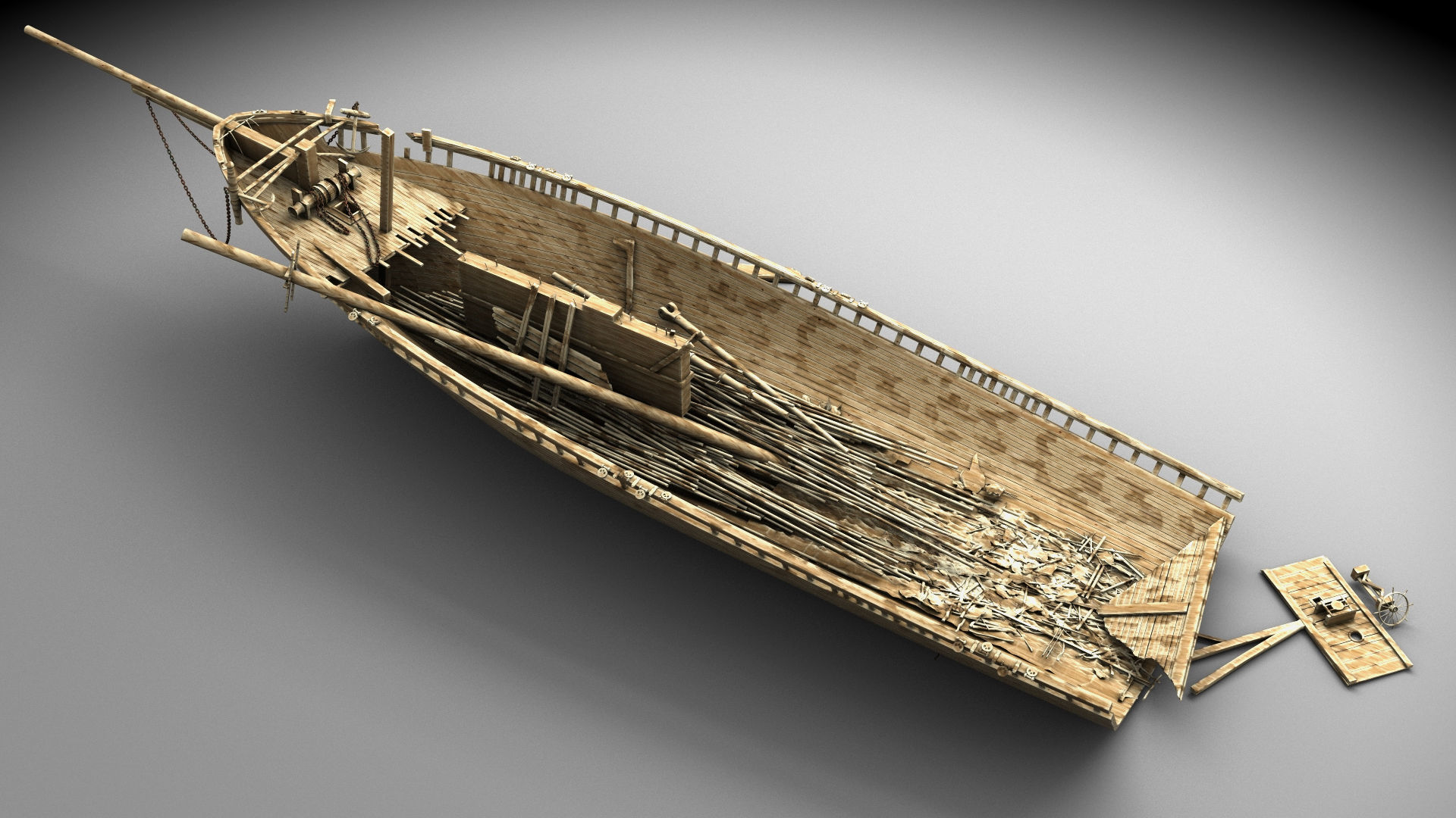Wooden shipwreck 2