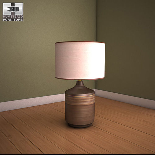 Ashley Karissa Table Lamp 3d Model Low Poly Max Obj 3ds Fbx Mtl 1 ...