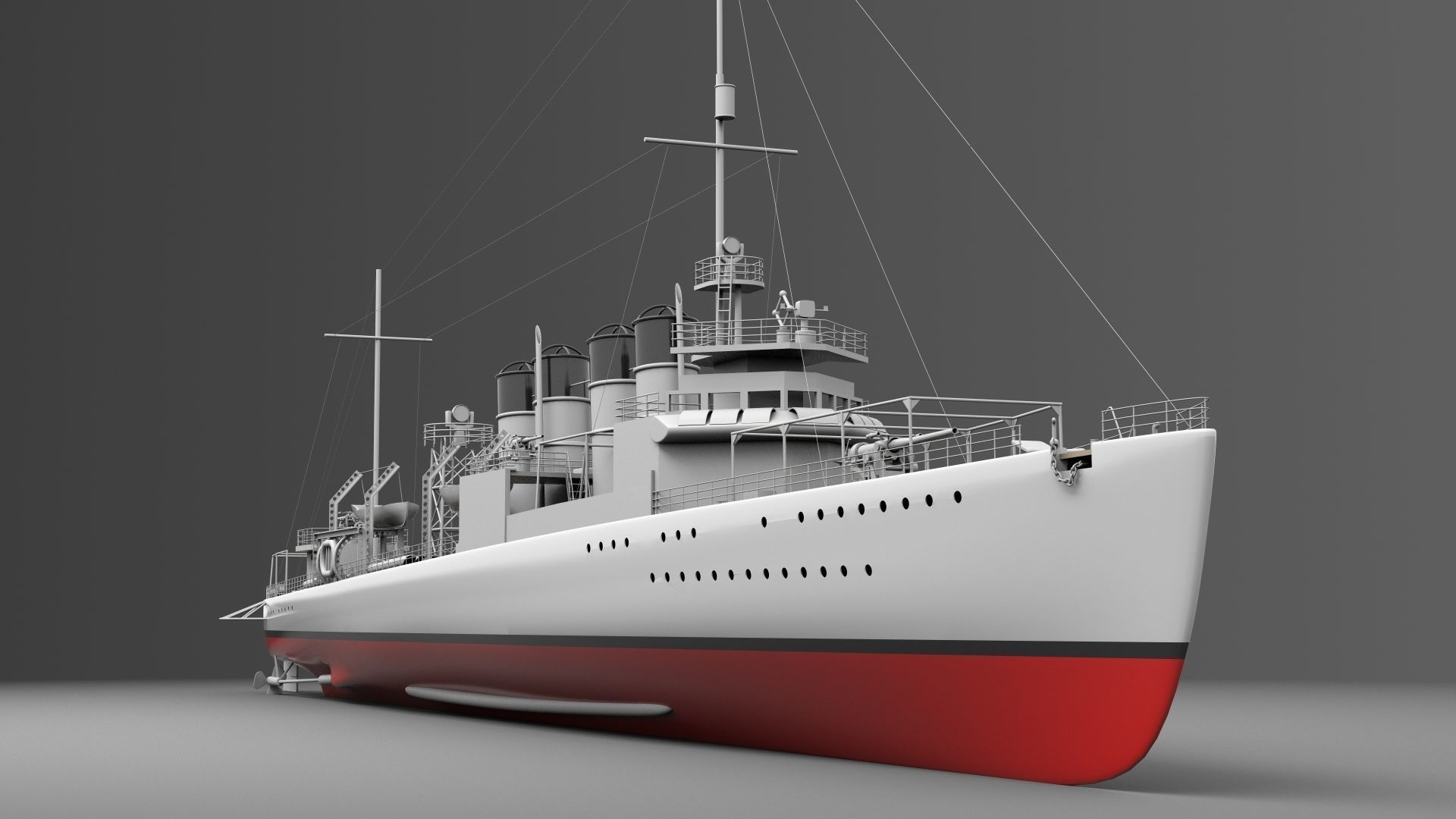 Watercraft 3 - Destroyer Ship