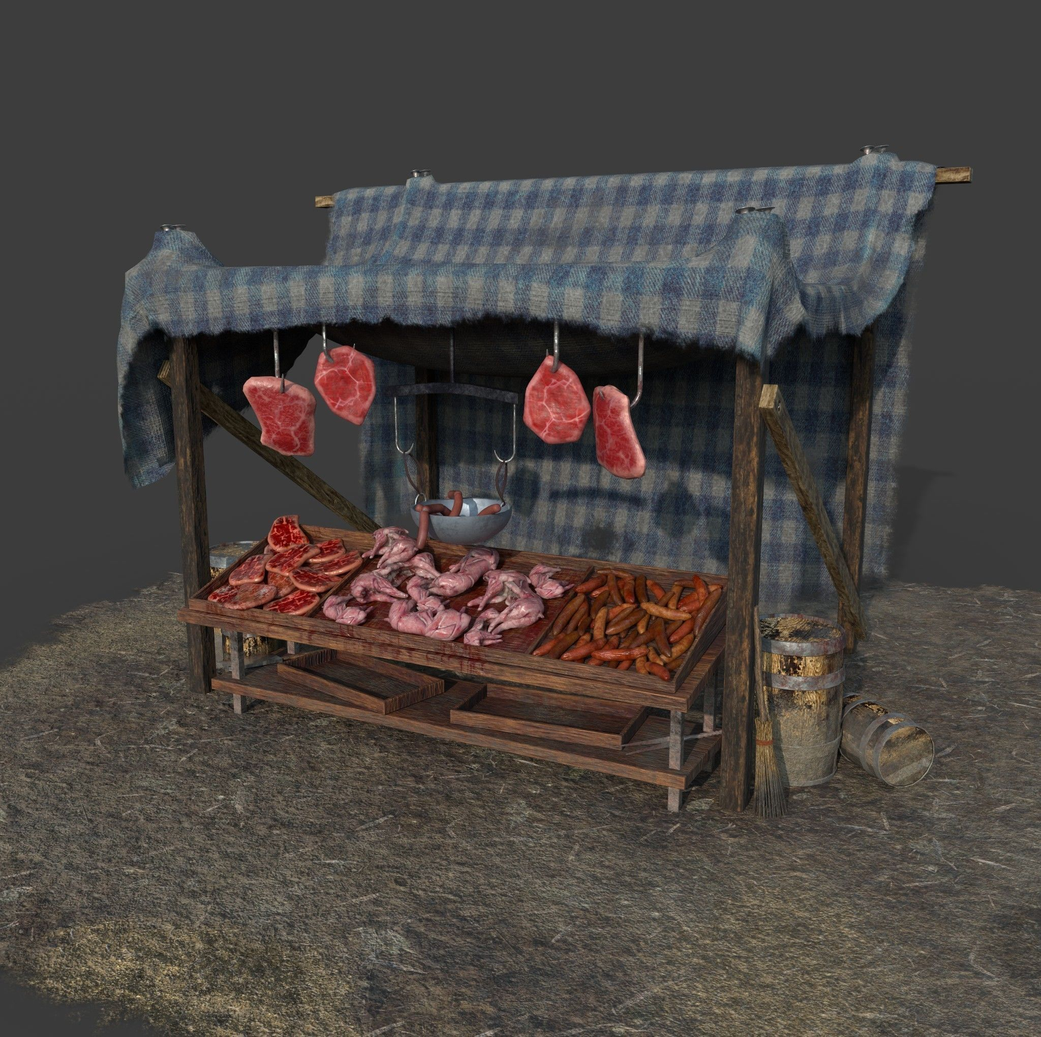 Medieval Style Meat Stall