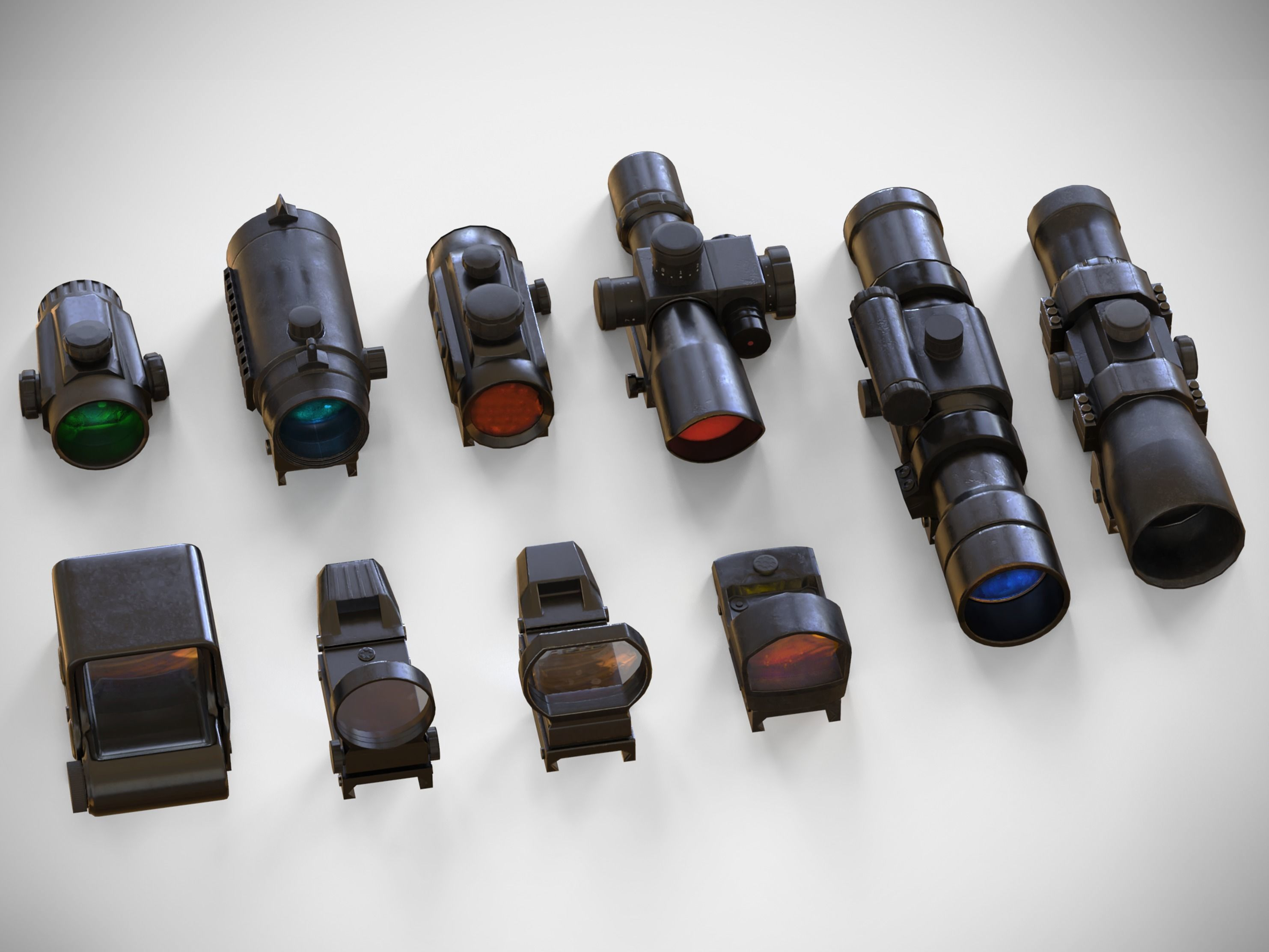 Sight Attachments Pack - Optical - Scope - Reflex - Holographic