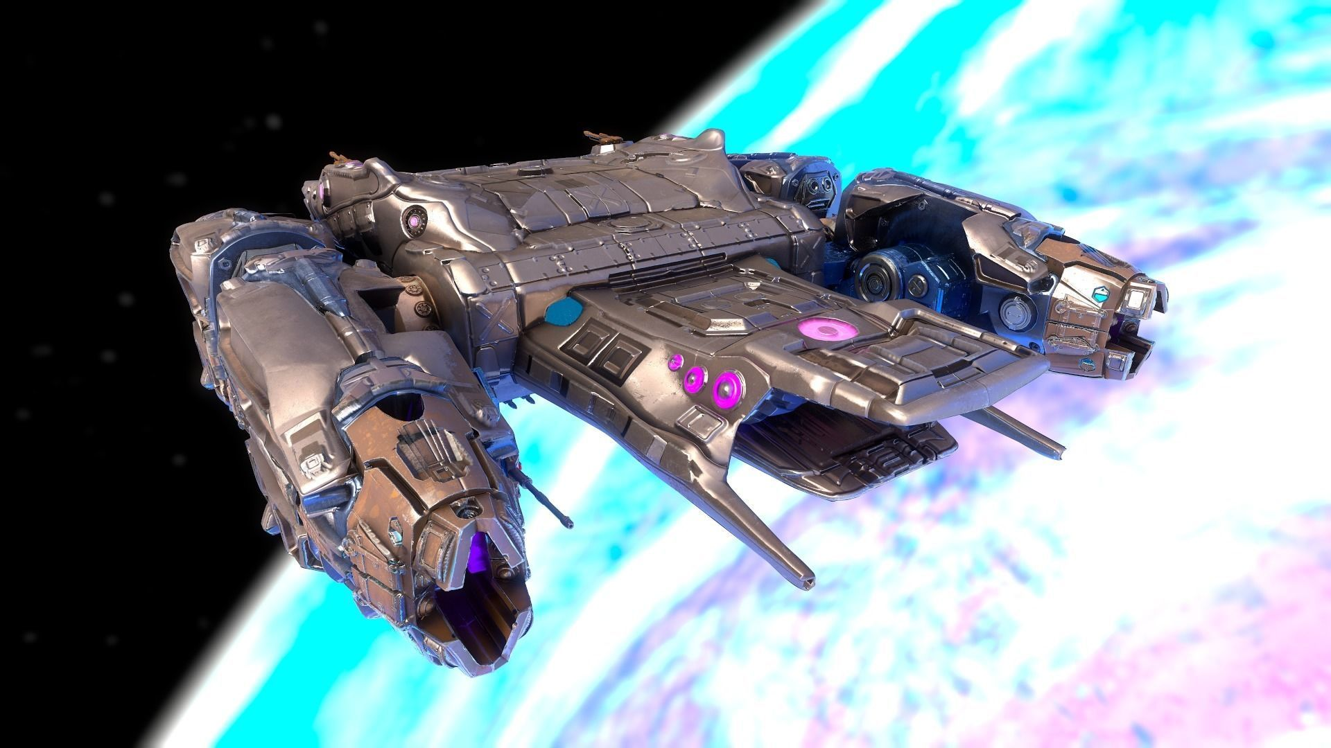 Sci-fi Battle Spaceship Essenor-Rigged