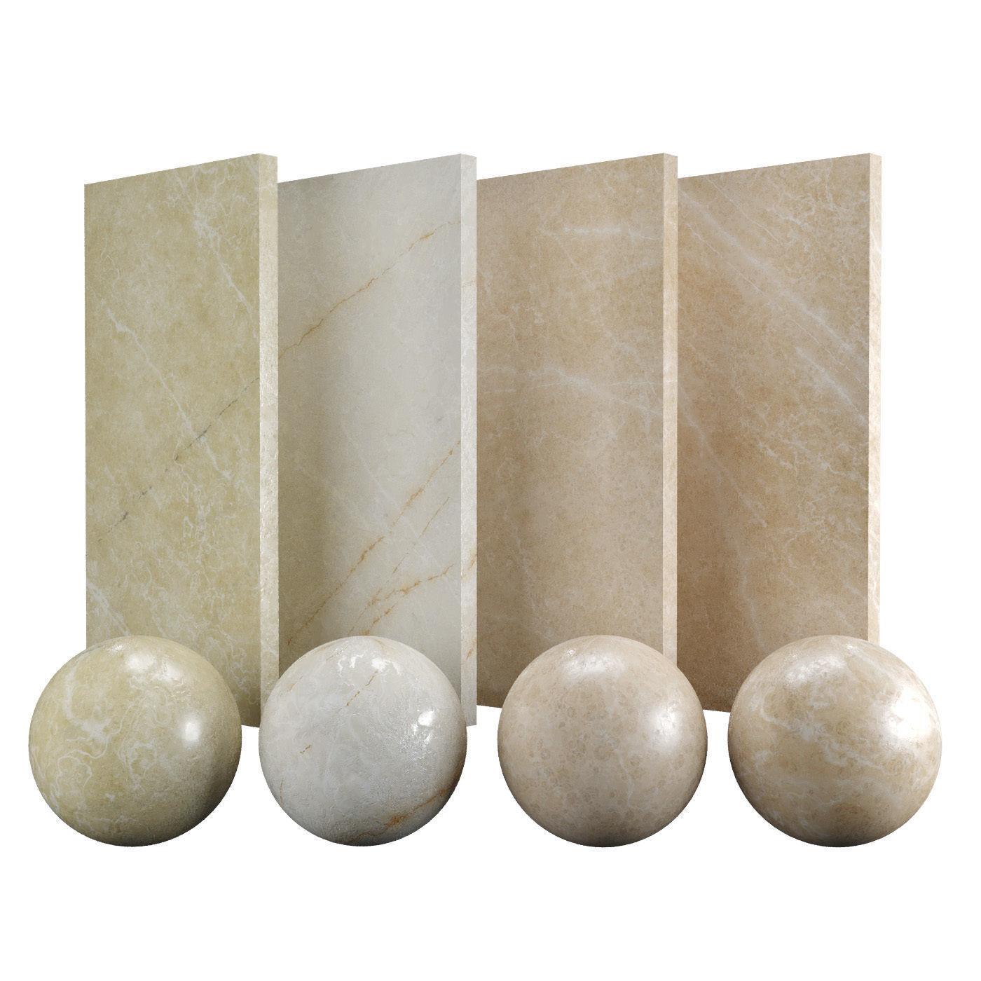 Beige Pavonazzo Marble Texture PBR Vray Corona 400 x 400 cm