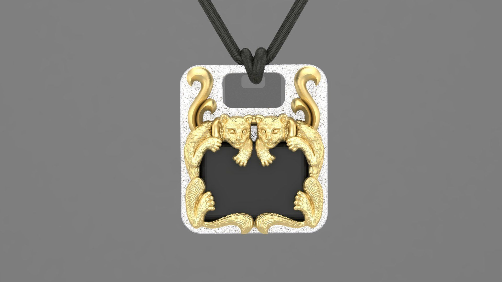 Pendant with couple cats