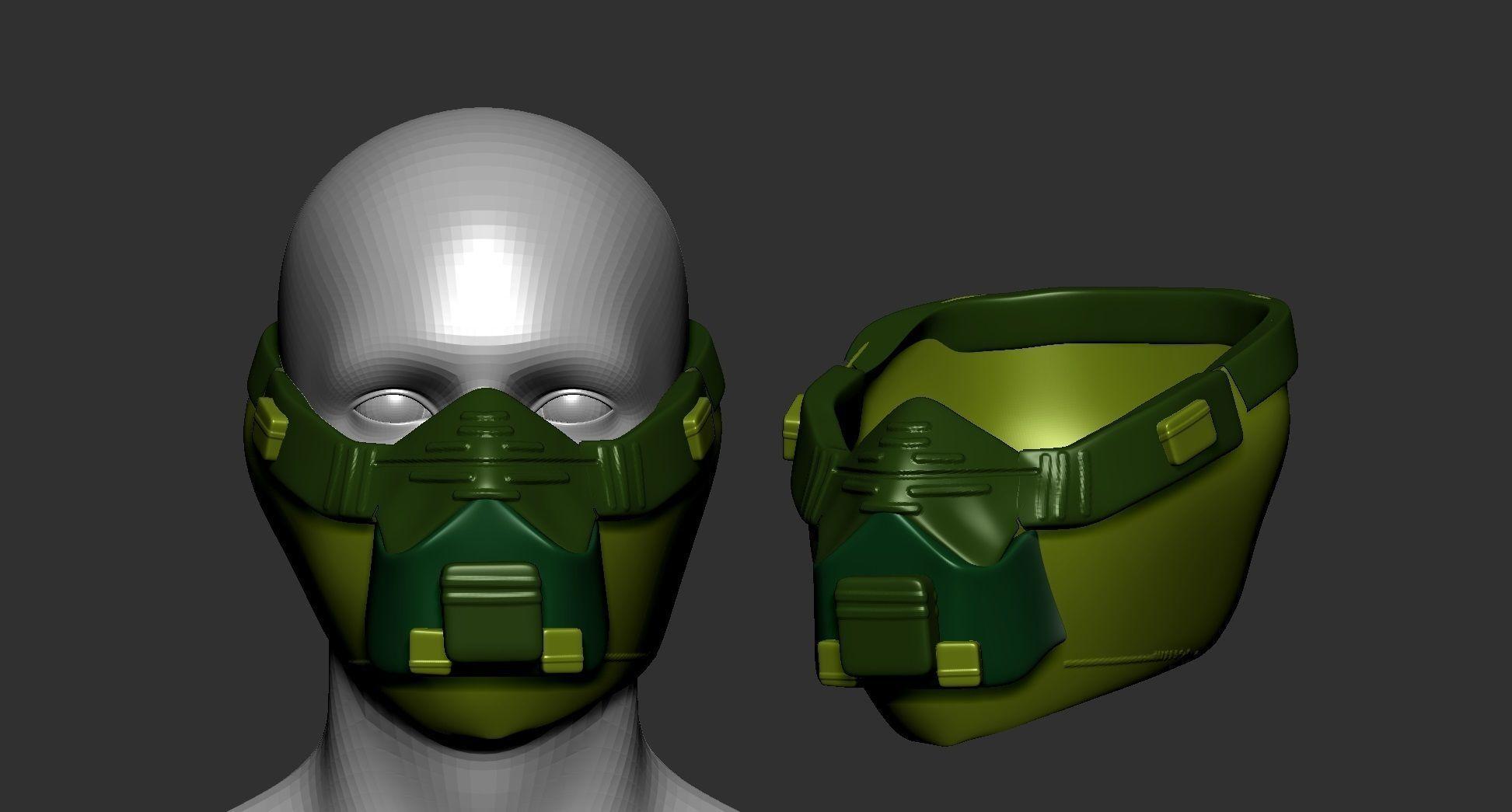 helmet high poly sculpt 3d printable