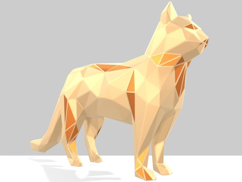 Polygonal Cat Printable