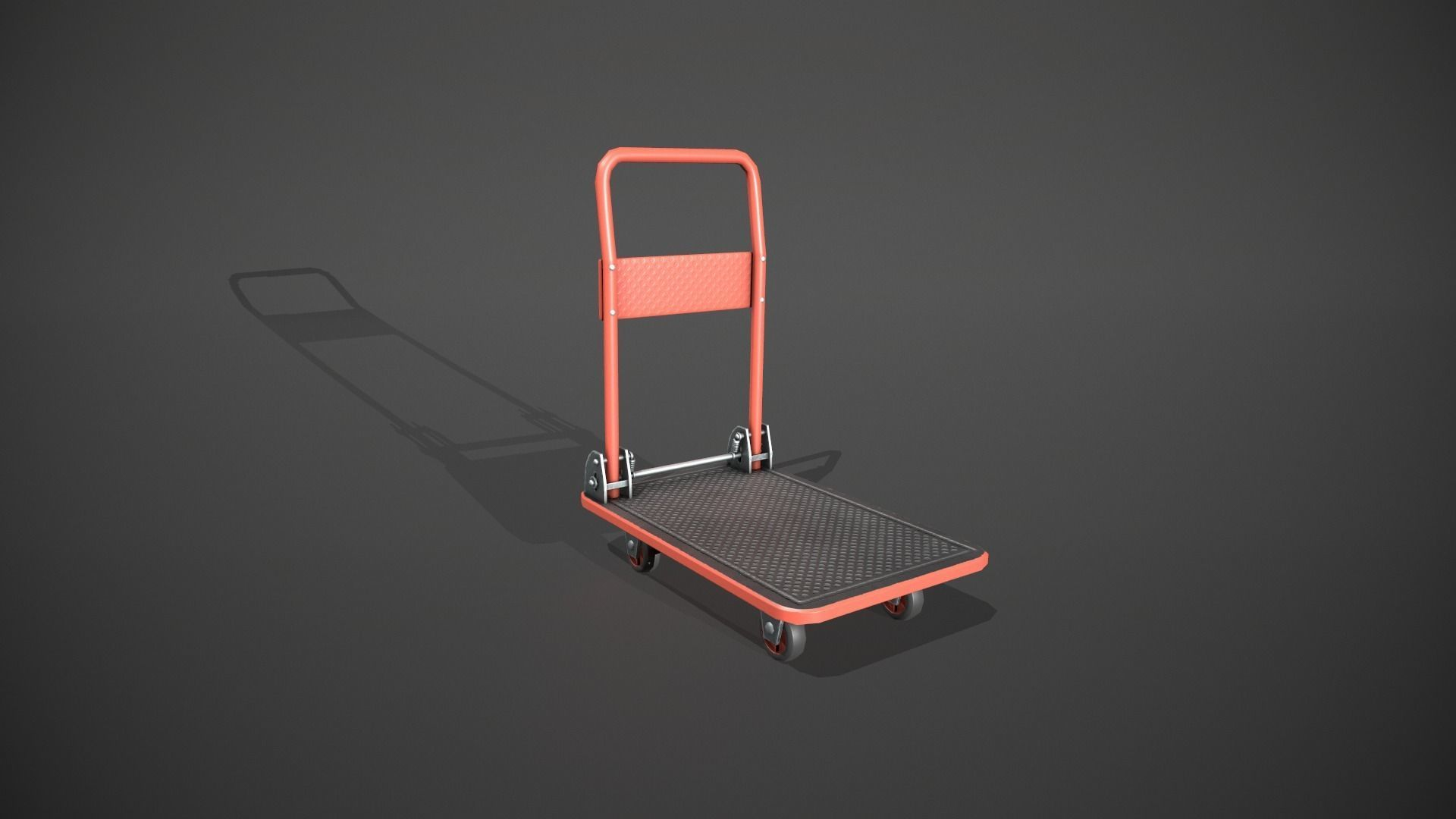 Folding Platform Truck - Trolley - Red