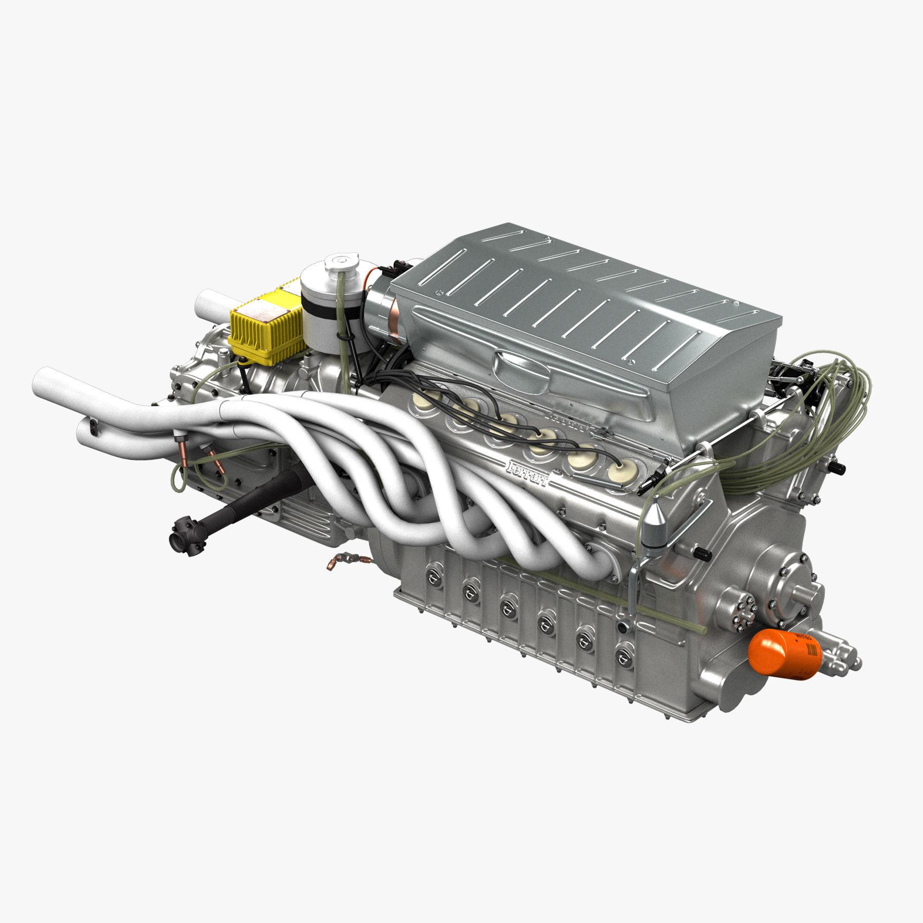 Ferrari 312p V12 Engine - 3 liter