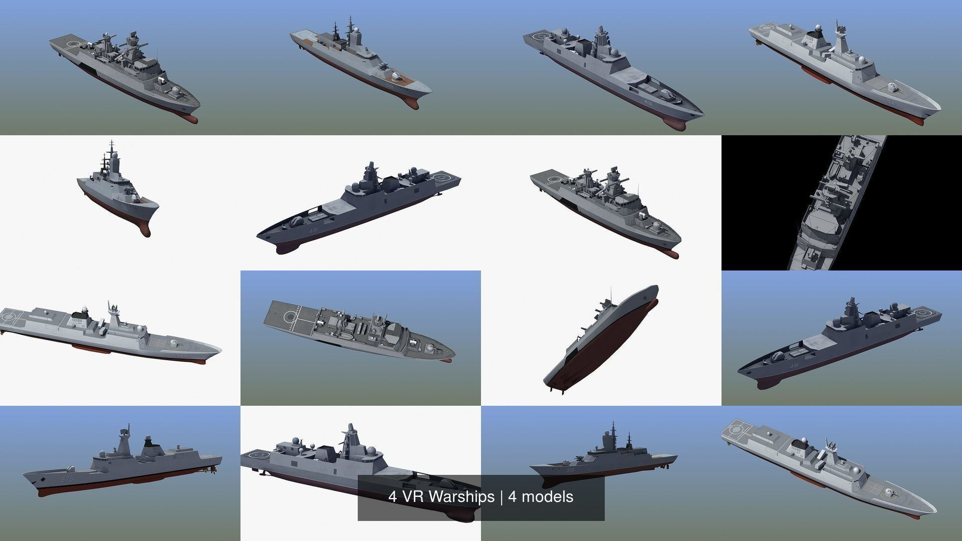 4 VR Warships