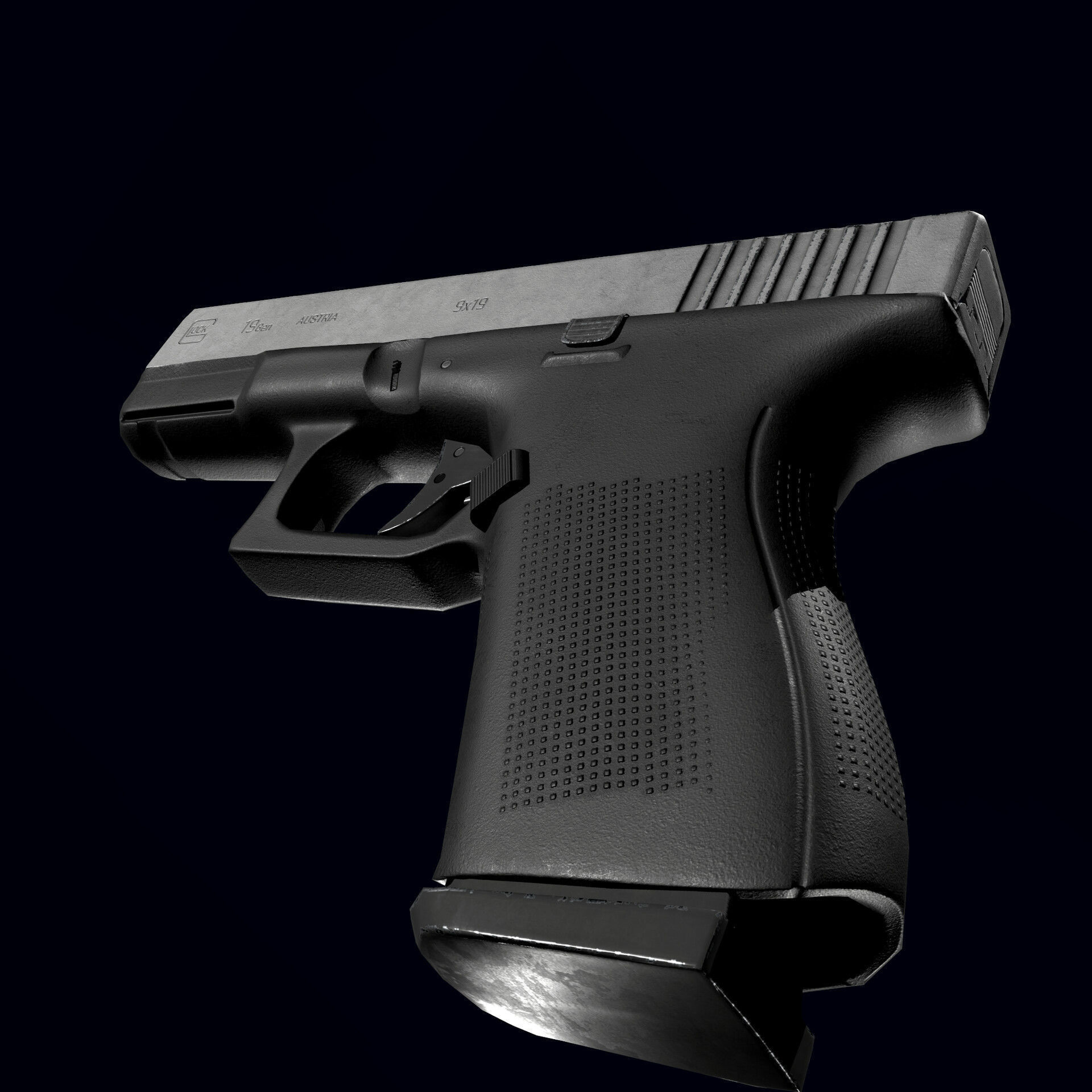 Pistol Glock 19 game ready