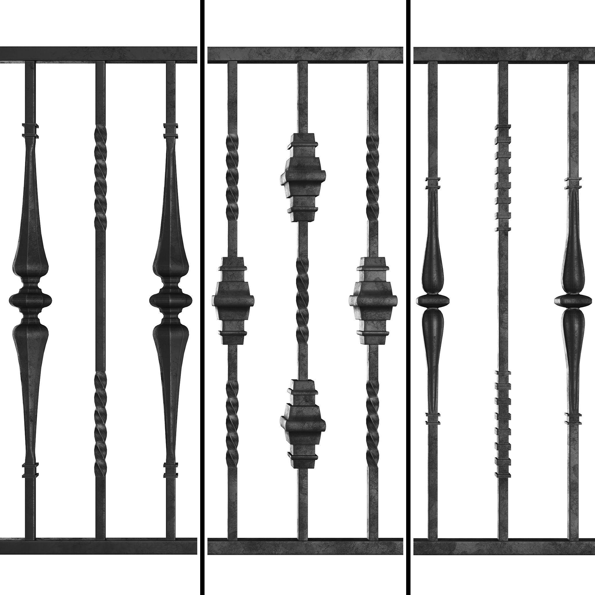 Wrought Iron Bundle No04 Fence