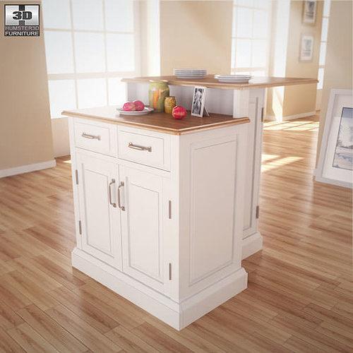 woodbridge two tier kitchen island 3d model cgtrader. Black Bedroom Furniture Sets. Home Design Ideas