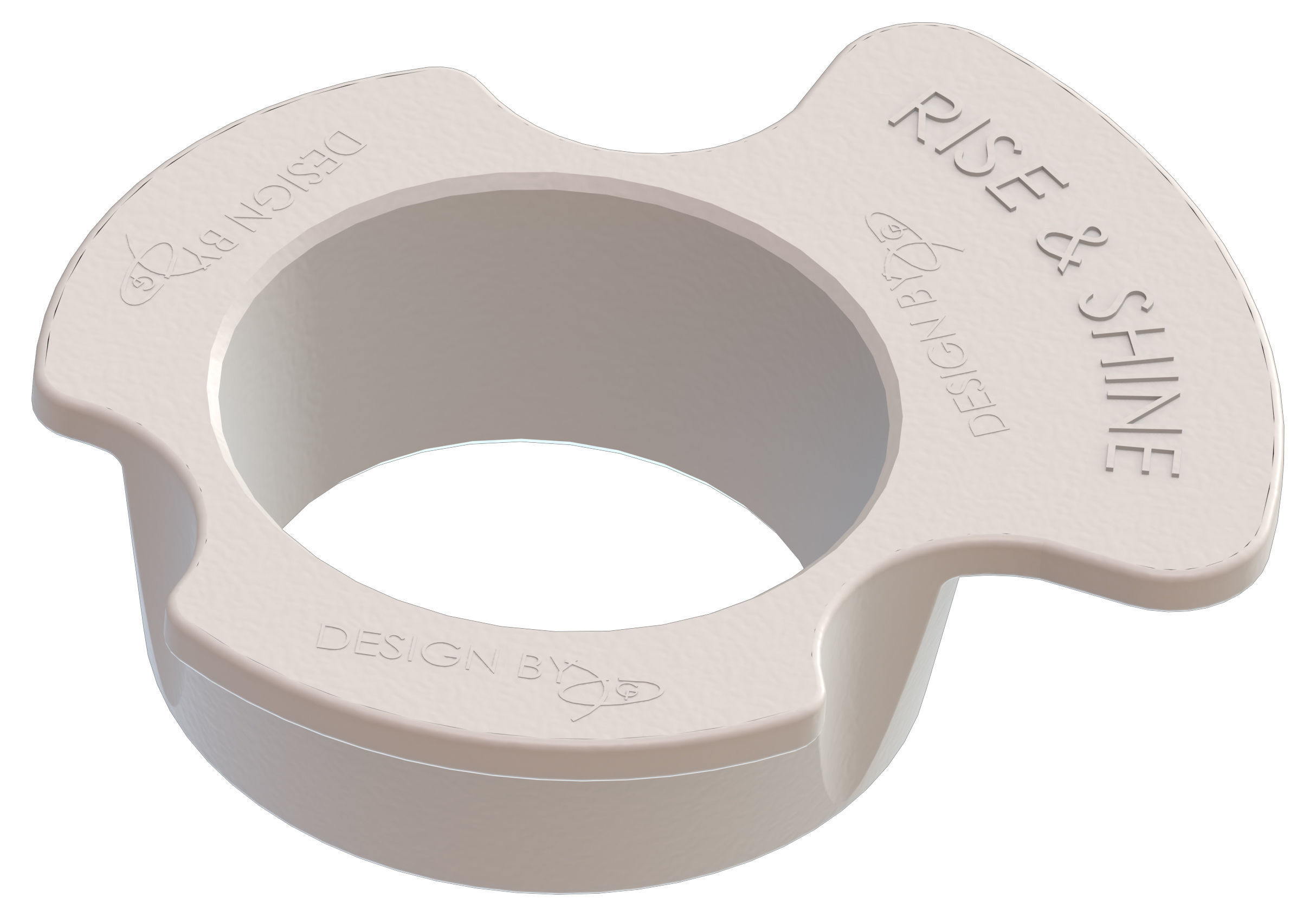 Cup Holder with Note RISE AND SHINE