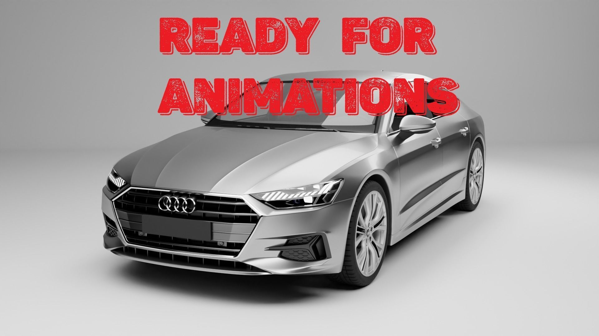 Rigged Car Ready For Animations Audi A7 Sportback 2018