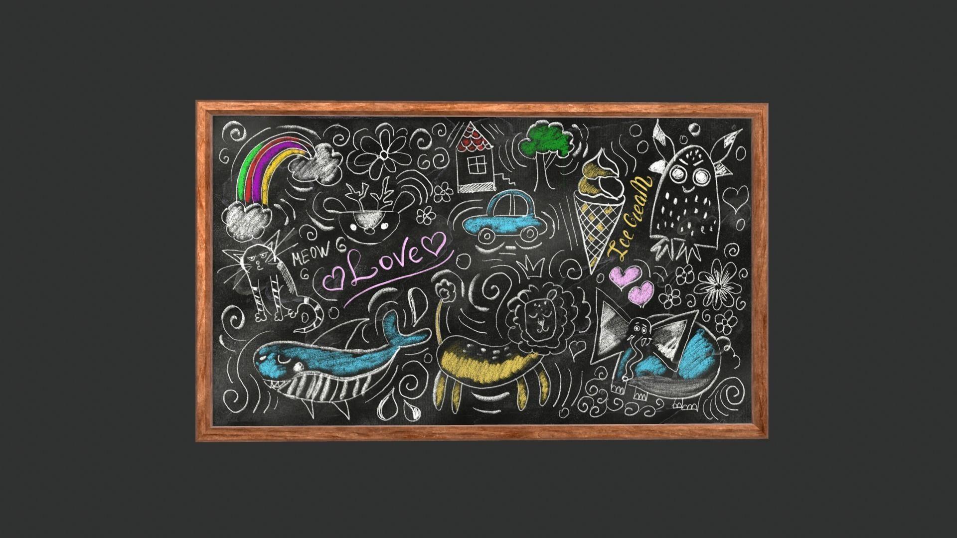 Funny Chalkboard Game Ready