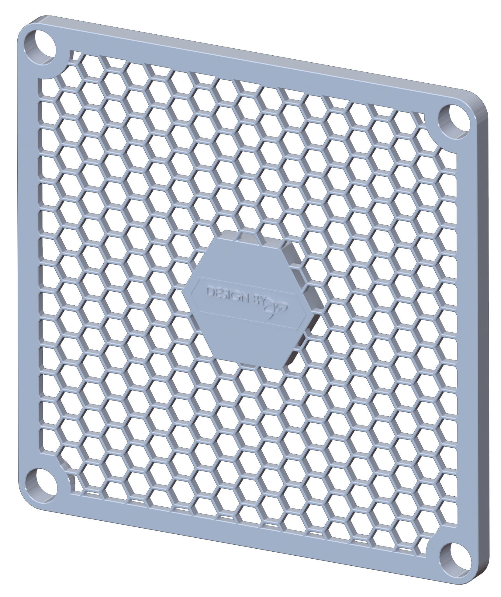 Computer chassis hexagonal fan cover