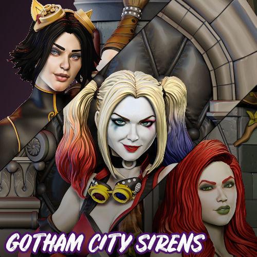 Steampunk Gotham City Sirens Harley Quinn Poison Ivy Catwoman