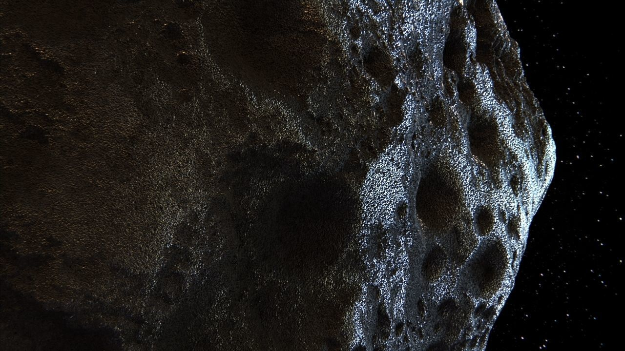 Detailed hight-poly asteroid