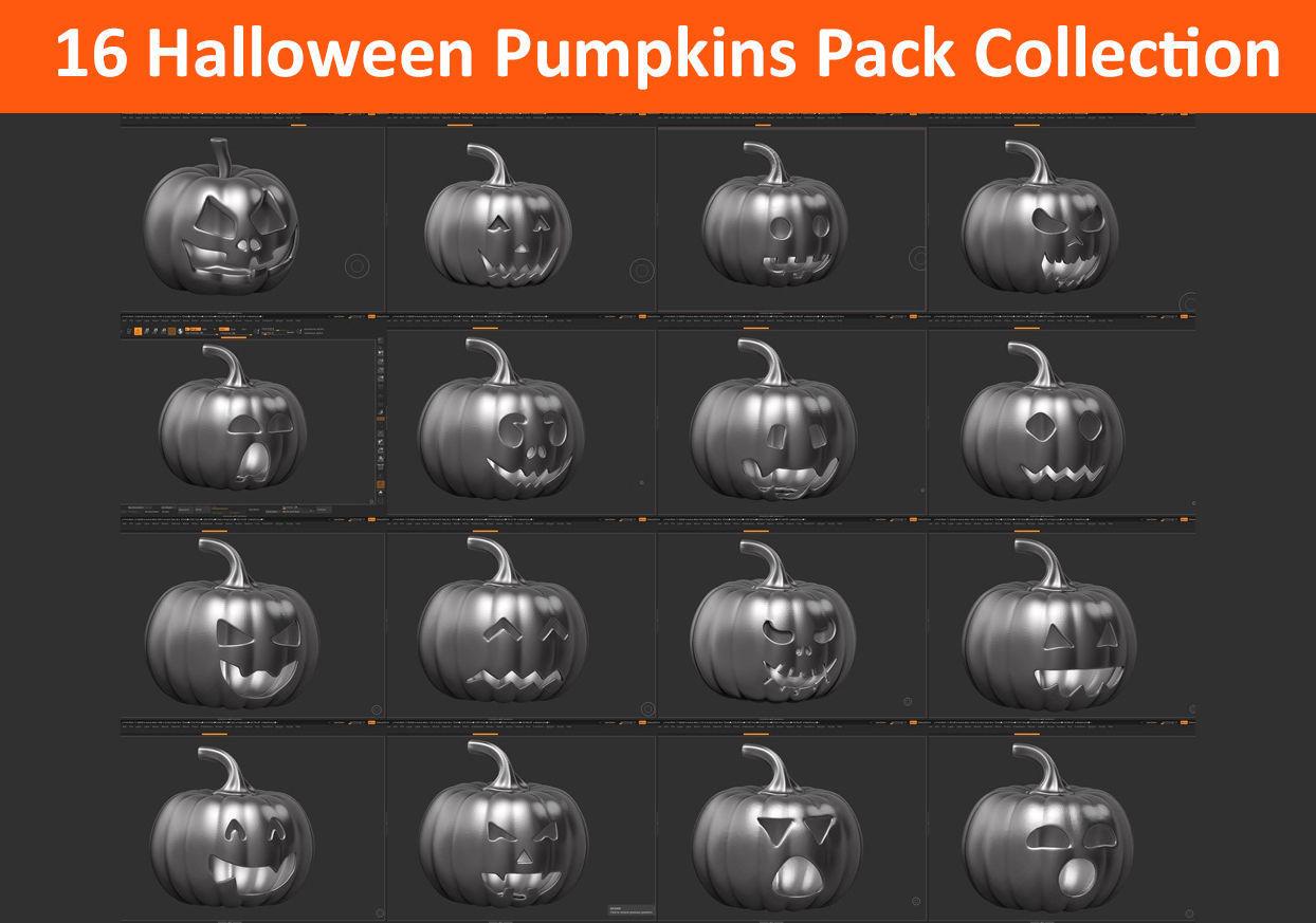 16 halloween pumpkin Mega Pack Collection