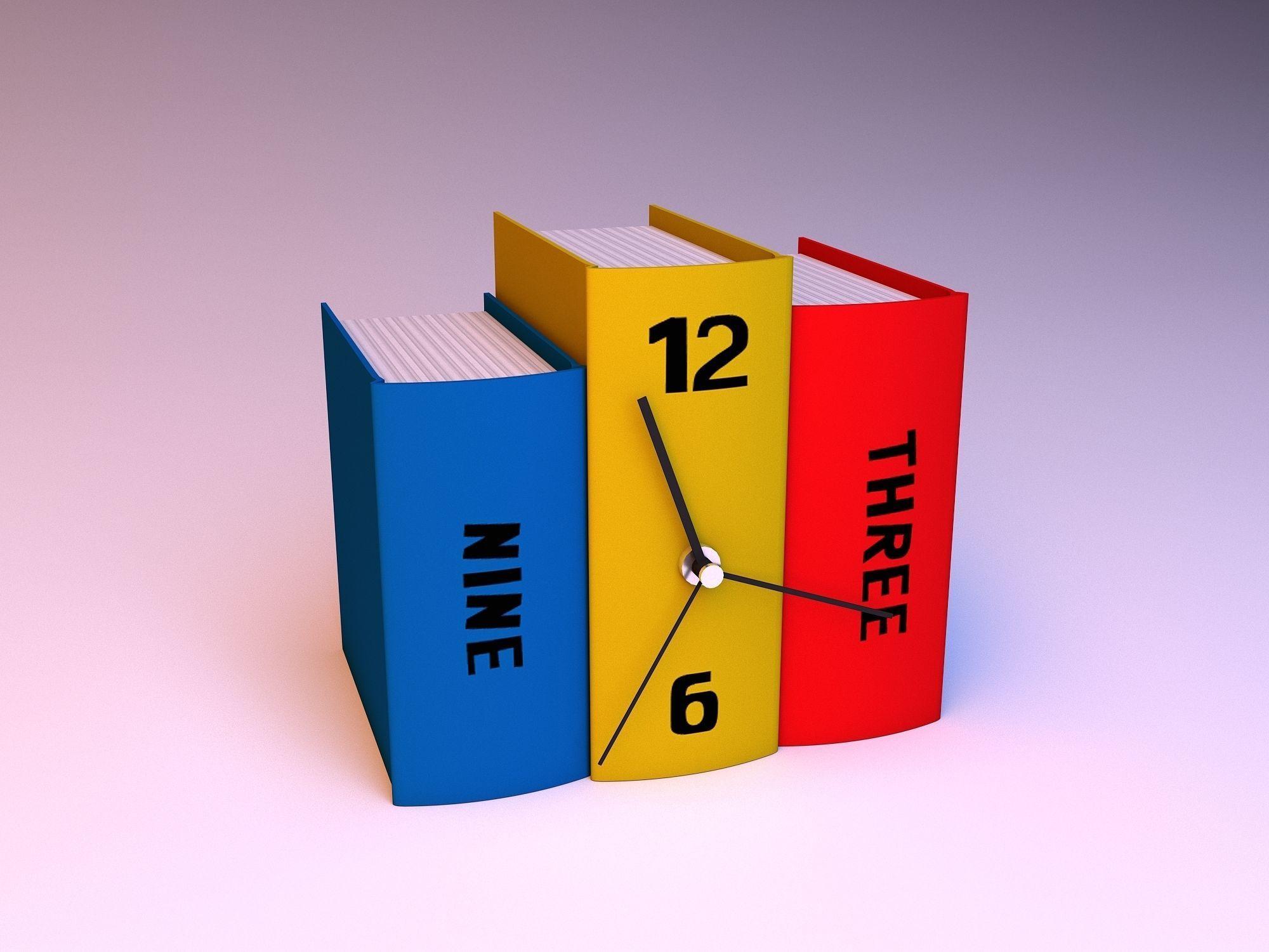 Modern book clock