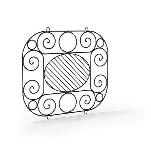 ornamental artistic railing 106 am79 3d model obj 1