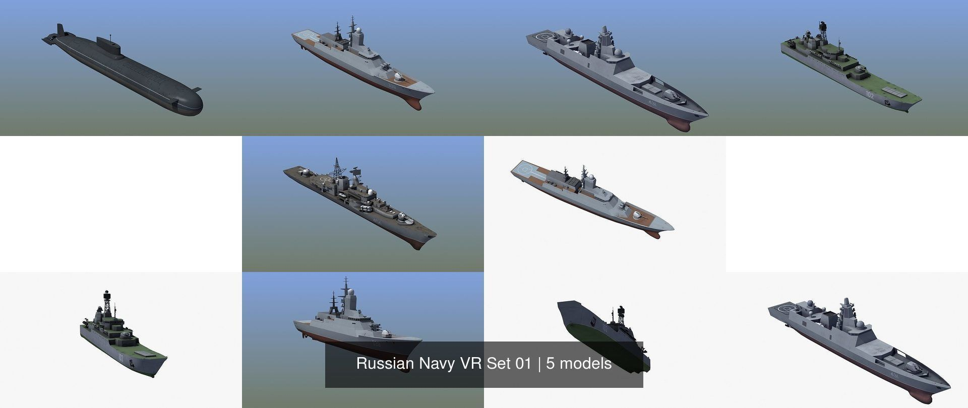 Russian Navy VR Set 01