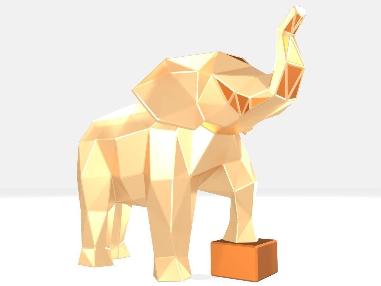 Polygonal Elephant kid Parametric