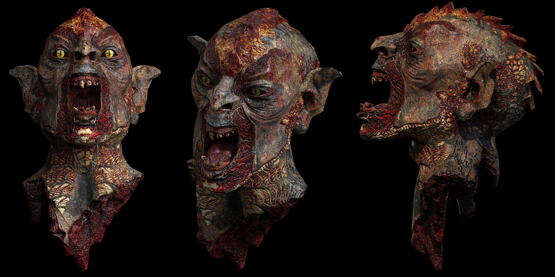 Beheaded Orc Head Gore