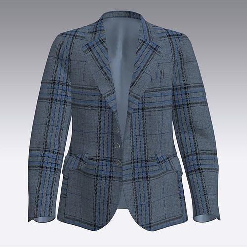 Men wool checks blazer