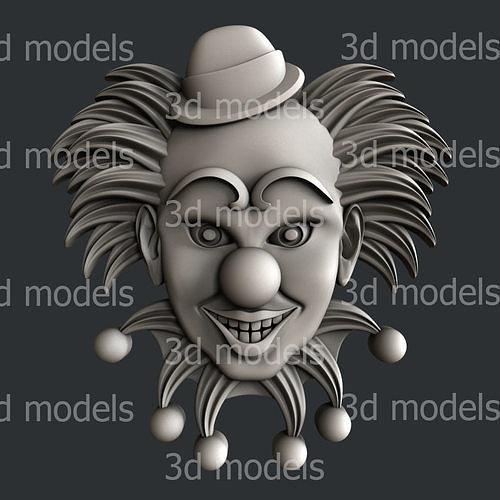 3d STL models for CNC router or 3dprinter clown