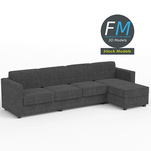 4 seat sofa with chaise longue