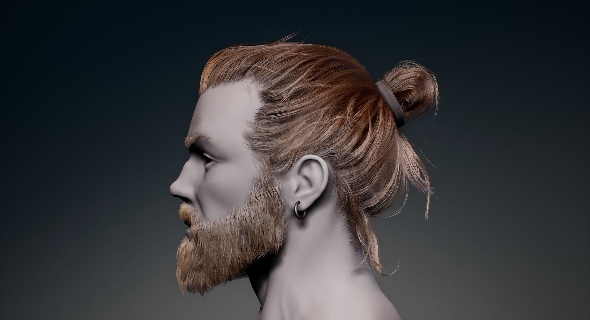 Game Hair - Man Real-time Hairstyle Beard and Eyebrows