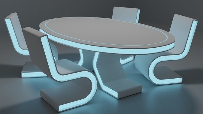 Sci-fi chair and table