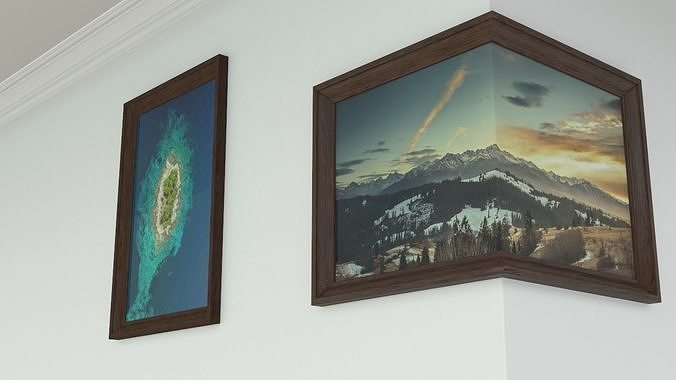 Picture - Photo - Mirror frame 3d model