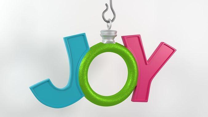Joy Holiday Christmas Ornament