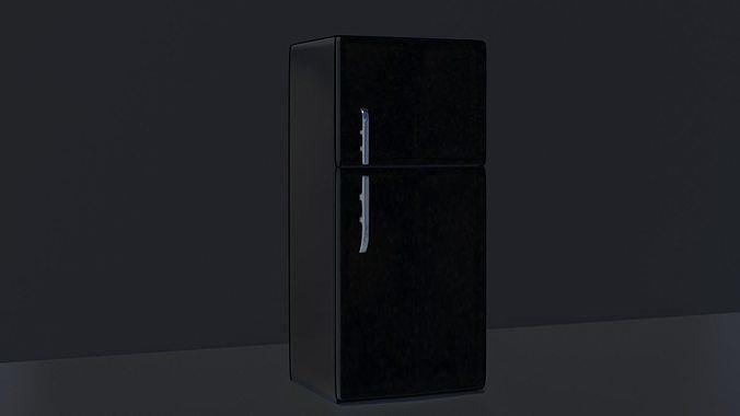 Low poly fridge model