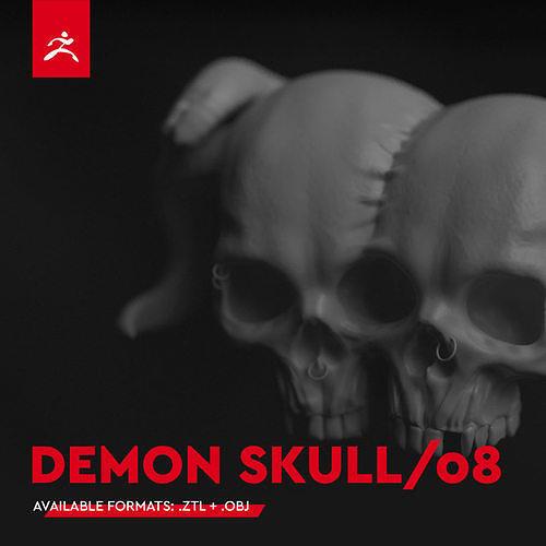DEMON SKULL 08 by Mike Kobzar