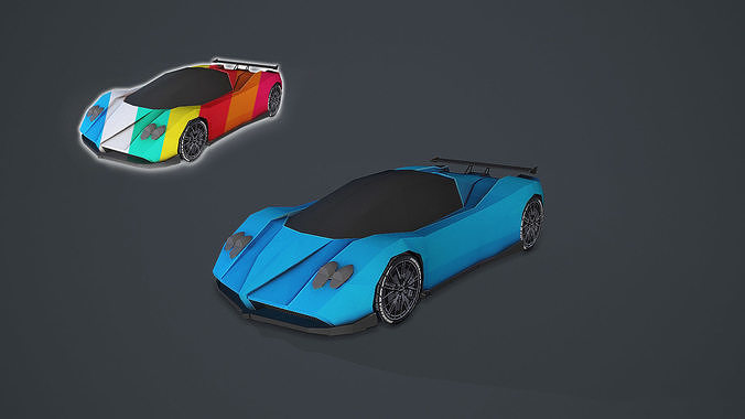 Stylized Hyper Car 01 - Low Poly Game Vehicle Car - Race Car