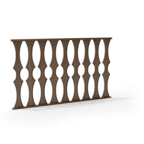 classic baroque railing 102 am79 3d model obj mtl 1