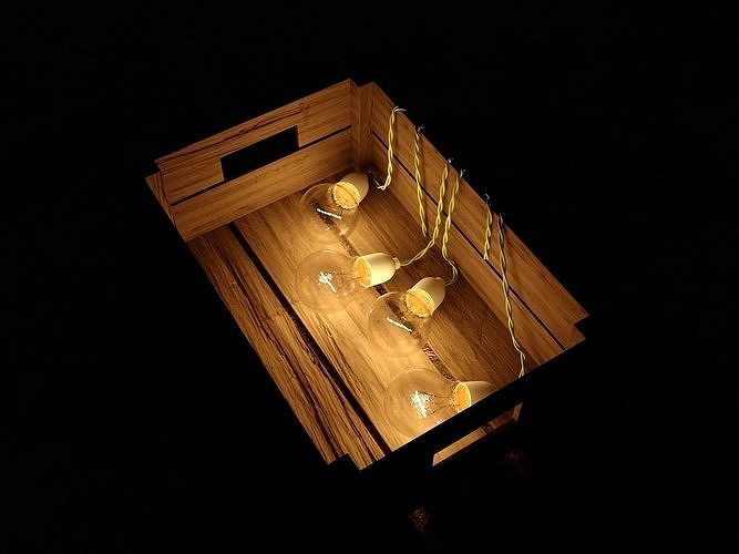 Box with lamps