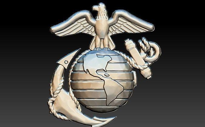 USA Marines Insignia CNC Eagle Globe artcam aspire relief
