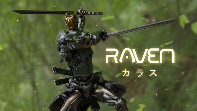 Low Poly  Robot - Raven