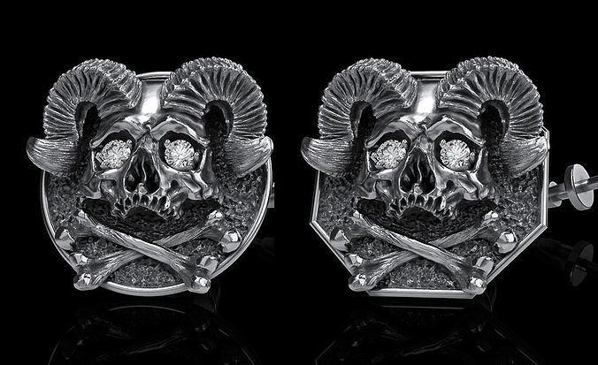 skull earrings studs 2
