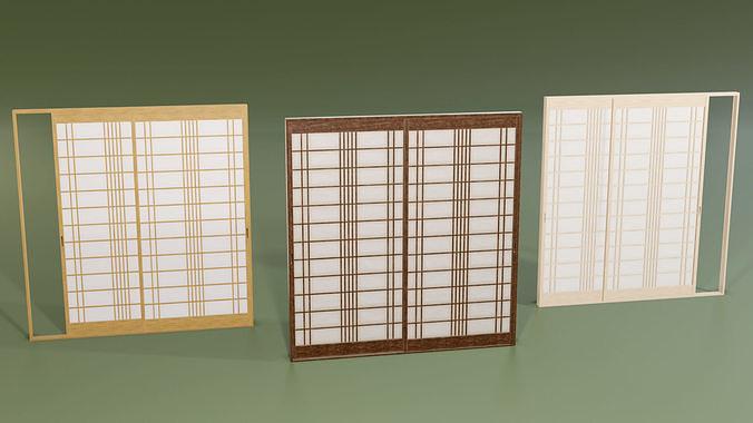 Japanese Shoji with designed lattice