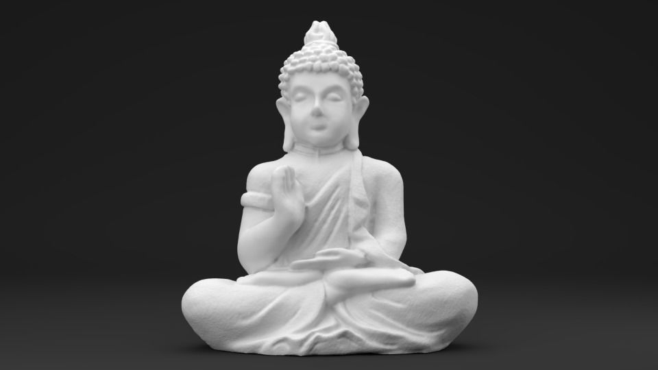 Buddha - 3D printable Scan - Statue