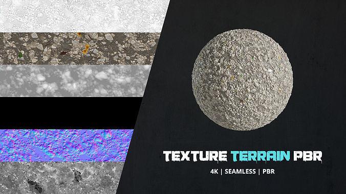 Texture Terrain 4k Pbr - 16bit - 06