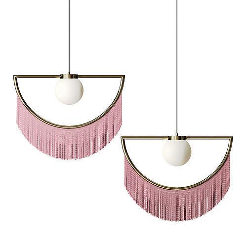 Pendant lamp with tassels Fringe
