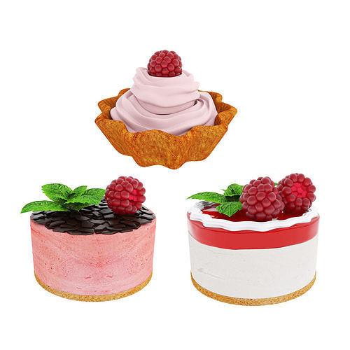 Raspberry dessert collection