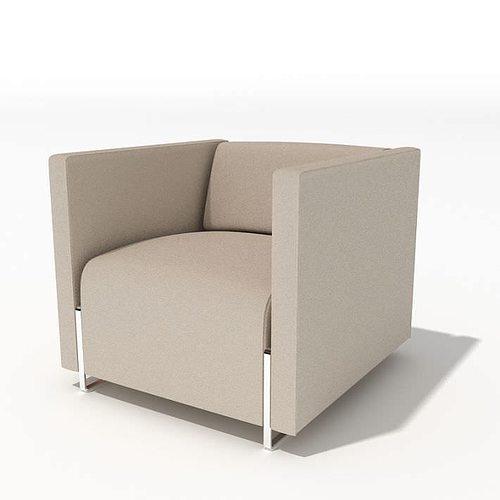 Grey Modern Armchair 34 Am45 3D Model